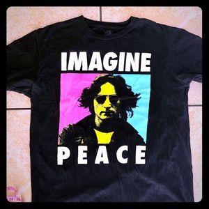 John Lennon 'Imagine Peace' Black XL Tee